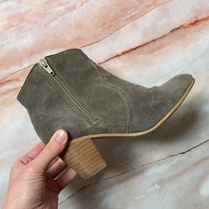 DEPARTMENT OF FINERY | Suede ankle boots in khaki